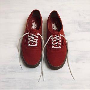 Vans Red Canvas Shoes Unisex Men's 8.5/Women's 10